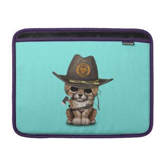 Cute Cheetah Cub Zombie Hunter MacBook Sleeve