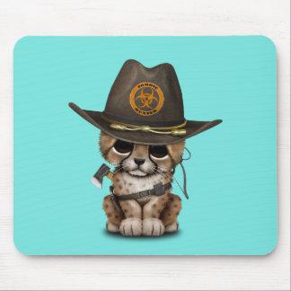 Cute Cheetah Cub Zombie Hunter Mouse Pad