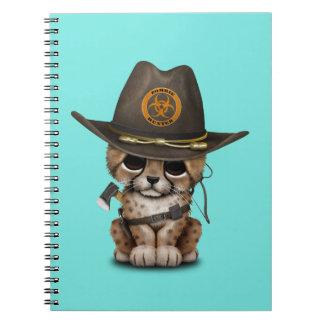 Cute Cheetah Cub Zombie Hunter Notebook