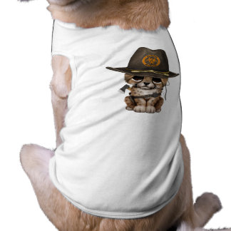 Cute Cheetah Cub Zombie Hunter Pet Clothes