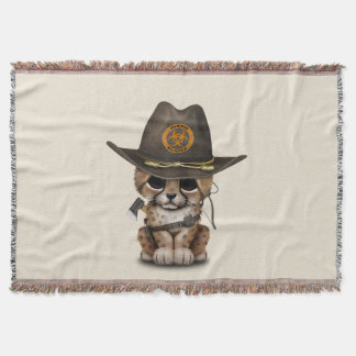 Cute Cheetah Cub Zombie Hunter Throw Blanket