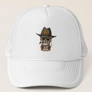 Cute Cheetah Cub Zombie Hunter Trucker Hat