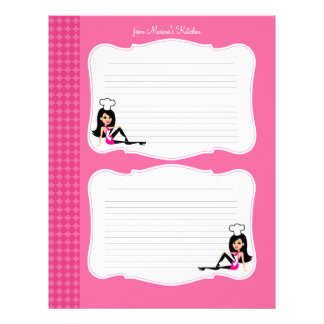 Cute Chef Art Recipe Pages for Binders #1