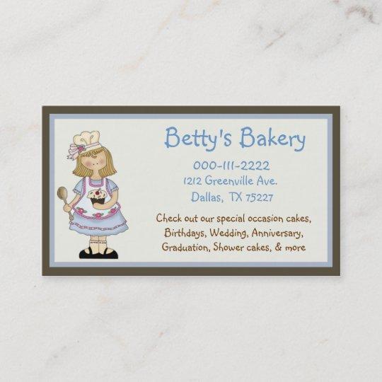 Cute chef business card coupon zazzle cute chef business card coupon reheart Images