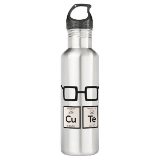 Cute chemical Element Nerd Glasses Zwp34 710 Ml Water Bottle