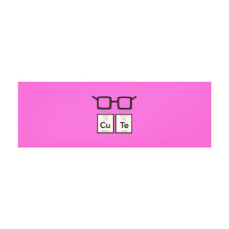 Cute chemical Element Nerd Glasses Zwp34 Canvas Print
