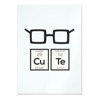 Cute chemical Element Nerd Glasses Zwp34 Card