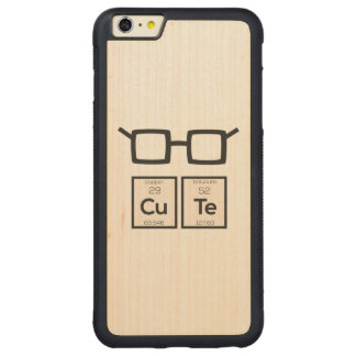 Cute chemical Element Nerd Glasses Zwp34 Carved Maple iPhone 6 Plus Bumper Case