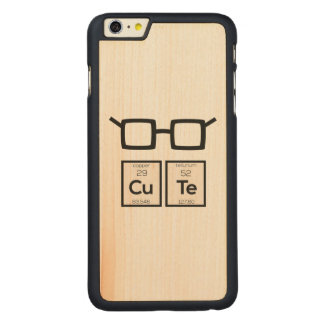 Cute chemical Element Nerd Glasses Zwp34 Carved Maple iPhone 6 Plus Case