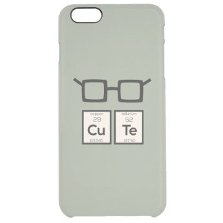Cute chemical Element Nerd Glasses Zwp34 Clear iPhone 6 Plus Case