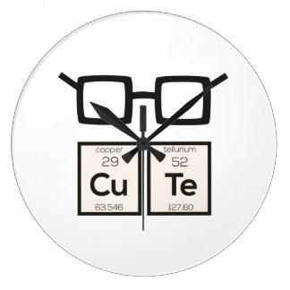 Cute chemical Element Nerd Glasses Zwp34 Clock