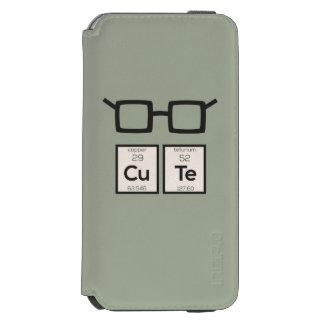Cute chemical Element Nerd Glasses Zwp34 Incipio Watson™ iPhone 6 Wallet Case