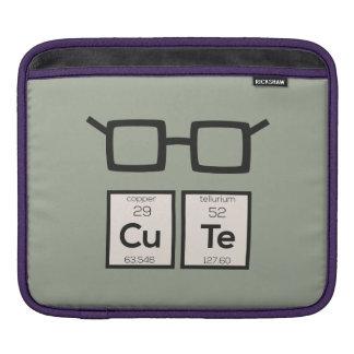 Cute chemical Element Nerd Glasses Zwp34 iPad Sleeves