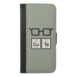 Cute chemical Element Nerd Glasses Zwp34 iPhone 6/6s Plus Wallet Case