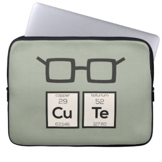Cute chemical Element Nerd Glasses Zwp34 Laptop Sleeve