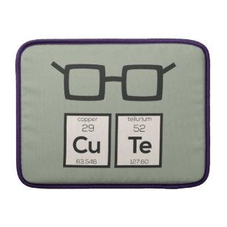 Cute chemical Element Nerd Glasses Zwp34 MacBook Sleeve