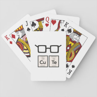 Cute chemical Element Nerd Glasses Zwp34 Playing Cards