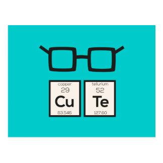 Cute chemical Element Nerd Glasses Zwp34 Postcard