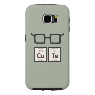 Cute chemical Element Nerd Glasses Zwp34 Samsung Galaxy S6 Cases