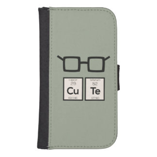 Cute chemical Element Nerd Glasses Zwp34 Samsung S4 Wallet Case