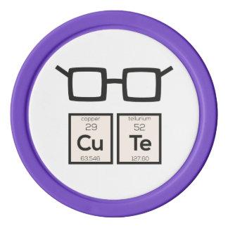 Cute chemical Element Nerd Glasses Zwp34 Set Of Poker Chips
