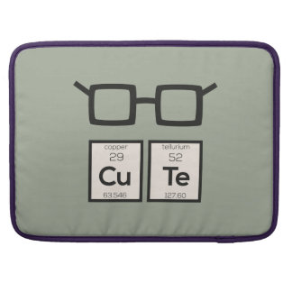 Cute chemical Element Nerd Glasses Zwp34 Sleeve For MacBook Pro