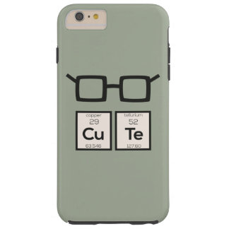 Cute chemical Element Nerd Glasses Zwp34 Tough iPhone 6 Plus Case