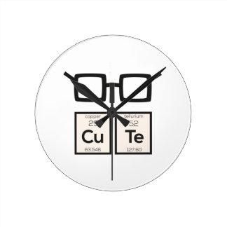 Cute chemical Element Nerd Glasses Zwp34 Wall Clocks