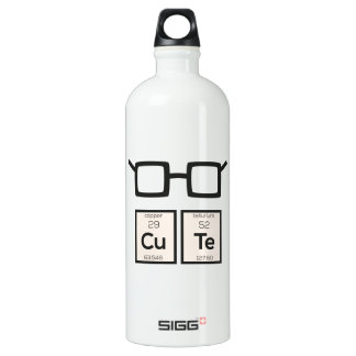 Cute chemical Element Nerd Glasses Zwp34 Water Bottle
