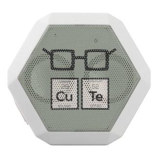 Cute chemical Element Nerd Glasses Zwp34 White Bluetooth Speaker