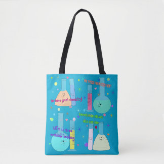 Cute Chemistry Attraction Design Tote Bag
