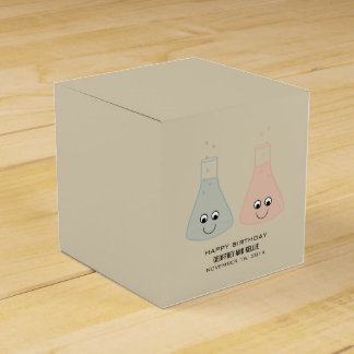 Cute Chemistry Birthday Favour Boxes Wedding Favor Box