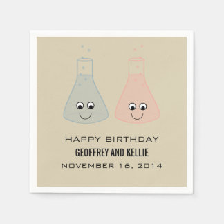 Cute Chemistry Birthday Paper Napkins