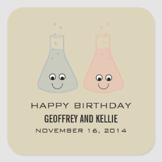 Cute Chemistry Birthday Stickers