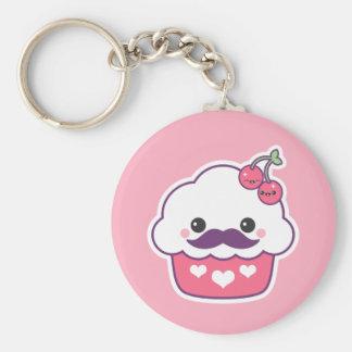 Cute Cherry Cupcake Keychain