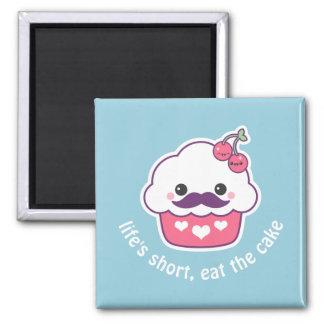 Cute Cherry Cupcake Magnet