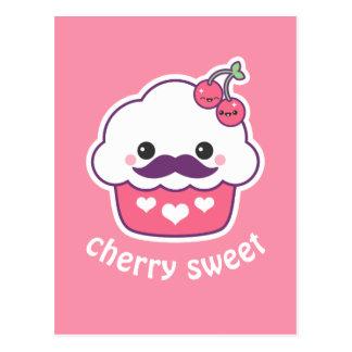 Cute Cherry Cupcake Postcard
