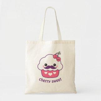 Cute Cherry Cupcake Tote Bag