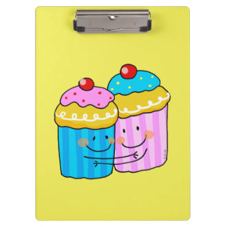 cute cherry cupcakes best friends clipboard