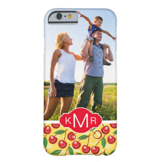 Cute Cherry Pattern | Add Your Photo Barely There iPhone 6 Case