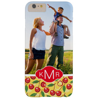 Cute Cherry Pattern | Add Your Photo Barely There iPhone 6 Plus Case