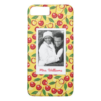 Cute Cherry Pattern | Monogram iPhone 8 Plus/7 Plus Case