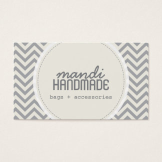 Cute Chevron Stripes Professional Business Card