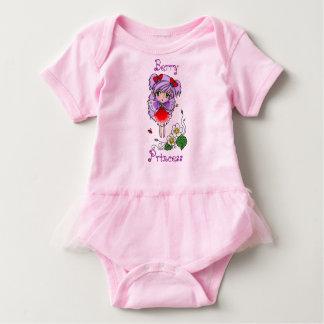 Cute Chibi Anime Strawberry Fairy and Flower Baby Bodysuit