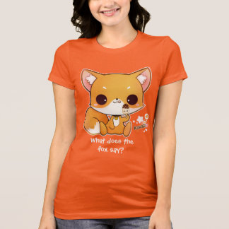 Cute chibi fox with kawaii icecream T-Shirt