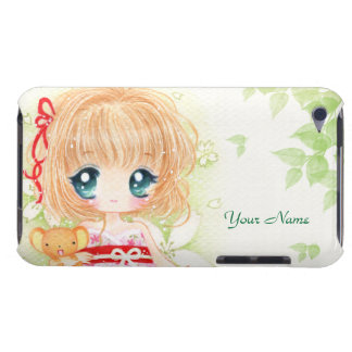Cute chibi with kawaii plushie - Ipod Touch Case