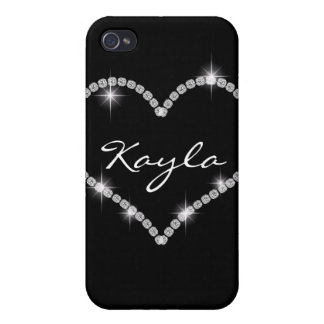 CUTE Chic Bling Heart Diamond I 4s iPhone 4 Cover
