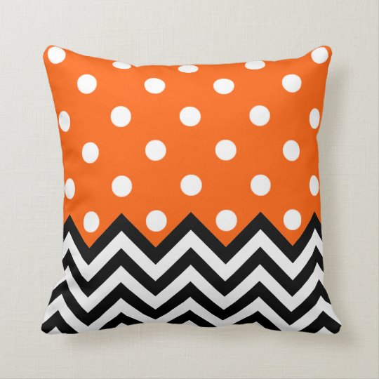 Cute Chic Classic Retro White Polkadots Pattern Throw Pillow