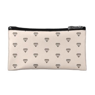 Cute Chic Diamond Pink Pattern Makeup Bag