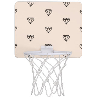 Cute Chic Diamond Pink Pattern Mini Basketball Hoop